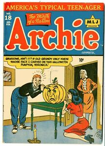 Archie Comics   # 18    FINE    February 1946    Dotty & Ditto by Woggon, name w