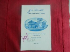 SANDY KOUFAX/JOE SEWELL-SIGNED  COOPERSTOWN HOF PROGRAM 1978