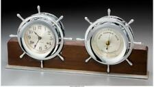 A Seth Thomas Combination Ship'S Clock And Barometer With Silver-Pl. Lot 66332