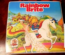Rainbow Brite Vtg 1983 -Rare- Take A Tape Along Cassettes Books Case