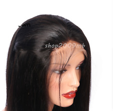 """Human Hair Wigs Women Long Straight Lace Front Full Wig With Baby Hair 26"""""""