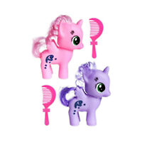 "Magical Little Pony 3"" Long Hair Girls Toy Pony Doll With Comb Stocking Filler"
