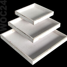 Dekoplatte Dekotablett Holz Tablett Deko Dekoration Shabby Vintage weiß