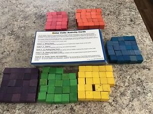100 Plus Wooden Cubes With Activity Cards/  2 Sets