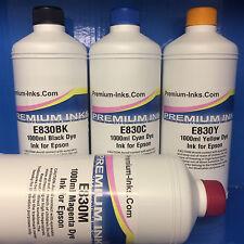 4 x Litre Refill Bottle Ink Fits Epson Printer CISS Black Cyan Magenta Yellow