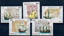 (W1058) LAOS, 1992, SHIPS, MI 1319/23, SET, MNH/UM, SEE SCAN