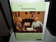 Anniversary Card New in Plastic MILK cards. Our Anniversary. Older Couple.