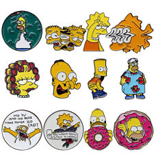 The Simpsons Enamel Pins Homer Bart Burns Brooch Badge Kids Gifts Collectibles