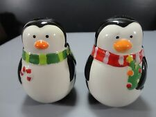 Christmas Penguin Salt and Pepper Shakers
