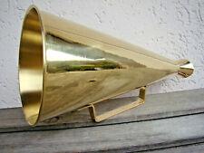 Superbe mégaphone porte voix rétro en laiton 34cm pour manif, bateau, fete, foot