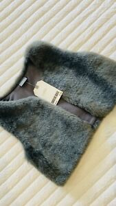 Baby Girl Faux Fur Gilet - Next 12-18 Months