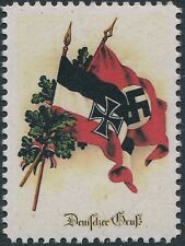Stamp Replica Label Germany 0045 WWII Christmas Iron Cross MNH