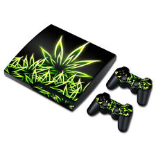 PS3 Slim Playstation 3 Console Skin Decal Sticker Marijuana Weed Custom Design