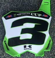 Eli Tomac #3 Monster Energy Cup Kawasaki Replica Front Number Plate