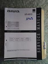 Aiwa xr-m10 service manual original repair book stereo radio cd player system
