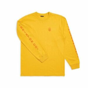 BRIXTON X INDEPENDENT TRUCK CO FRAME L/S TEE SHIRT YELLOW