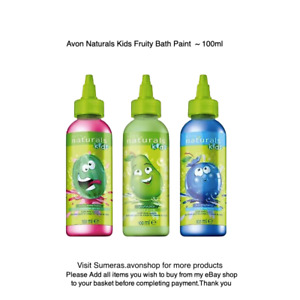 Avon Naturals Kids ~ Various Fruity Scented Bath Paint ~ Washable Bath Time Fun
