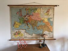 "ORIGINAL VINTAGE MAP OF  EUROPE HISTORY "" WESTPHALIA "" CIRCA 1945"