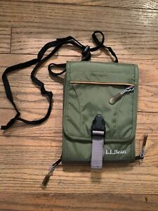 L.L. Bean Travel Size Carry Bag Pouch With Strap & Pockets & Identification Spot
