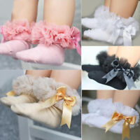 Cute Baby Girl's Princess Tutu Socks Bow Lace Cotton Infant Frilly Short Socks