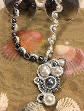 Collier soutache in pietre dure naturali e perle coltivate
