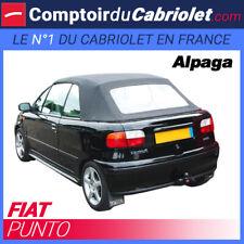 Capote noire pour Fiat Punto cabriolet - Toile alpaga Twillfast®
