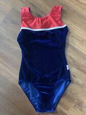 Destira Gymnastics Leotard Size JR Red White & Blue EUC