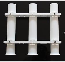 Boat White 3 Link Fishing Rod Holder Socket Marine Plastic PP Rod Pod 3 Tubes