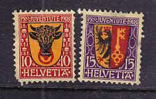 Switzerland postage stamps -1918 Pro-juvente 2 x Used