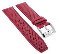 Festina Chronograph Ersatzband 23mm aus Leder rot mit Lochmuster F20339 F20339/5