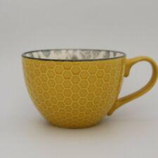 Oversized Ceramic Mug Yellow with Bees