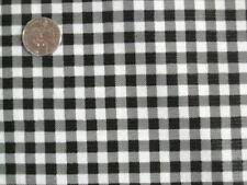 BLACK GINGHAM CHECK KITCHEN PATIO DINE BBQ OILCLOTH VINYL TABLECLOTH 48x72 NEW