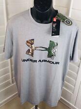 New Under Armour UA Logo Gray Realtree Camo T-Shirt, 1271828 025, Men's Sz Large