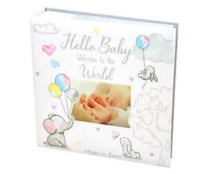 Baby First Photo Album 4x6'' 252 Photos Memo White Unisex Birthday Christening