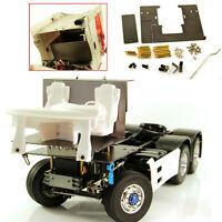 For 1/14 Tamiya Benz RC Truck Metal Steering Servo Mount Cab Floor Board Upgrade
