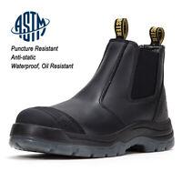 Men's Work Boots Oil Puncture resistant Waterproof Non-Slip Safe Shoes