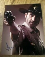 ANDREW LINCOLN SIGNED 8X10 PHOTO THE WALKING DEAD COP W/COA+PROOF RARE WOW