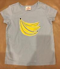 Hanna Andersson Size 120 Banana Blue Yellow T-Shirt Summer 100% Cotton