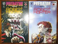 Predator Versus Magnus Robot Fighter Set Valiant Dark Horse Comics 1992 1 2
