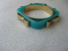 TED BAKER Four Bow Bracelet IVORY GREEN BANGLE