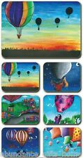 'Hot Air Balloons' Cork Backed Coasters by Sharon Peterkin - Set of 6 *NEW*