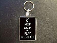 50 X KEEP CALM AND PLAY FOOTBALL KEYRINGS BAG TAG BIRTHDAY GIFT