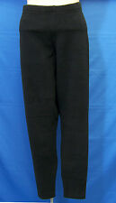 Winter Leggings Black Thick Fleece Type Tight Fit Stretch Pants Polyester Size M