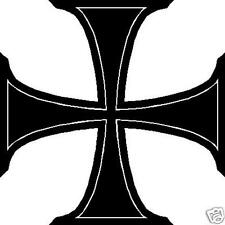 Iron Cross Vinyl Window Decal Bumper Sticker