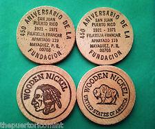 2 FILATELIA FRANCAR Mayaguez Puerto Rico INDIO BUFALO 1971 solo yo la tengo