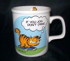 Garfield Cat If You Jog Don't Drive Wearing Sneakers Cup Mug 1978 Jim Davis