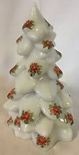 "Christmas Holiday Tree - Milk Handpainted Glass - Mosser USA - Large 8"""