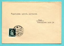 LATVIA RUSSIA OCCUPATION ENVELOPE 10 USED RIGA 1940s 179