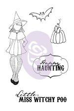 Prima Julie Nutting Witchy Poo Doll Stamp Set Halloween Scrapbook Cards