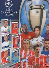 TOPPS NO PANINI UEFA CHAMPIONS LEAGUE 2017-2018 : LOT DE 70 VIGNETTES STICKERS